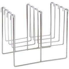 Milo Baughman Chrome Magazine Rack