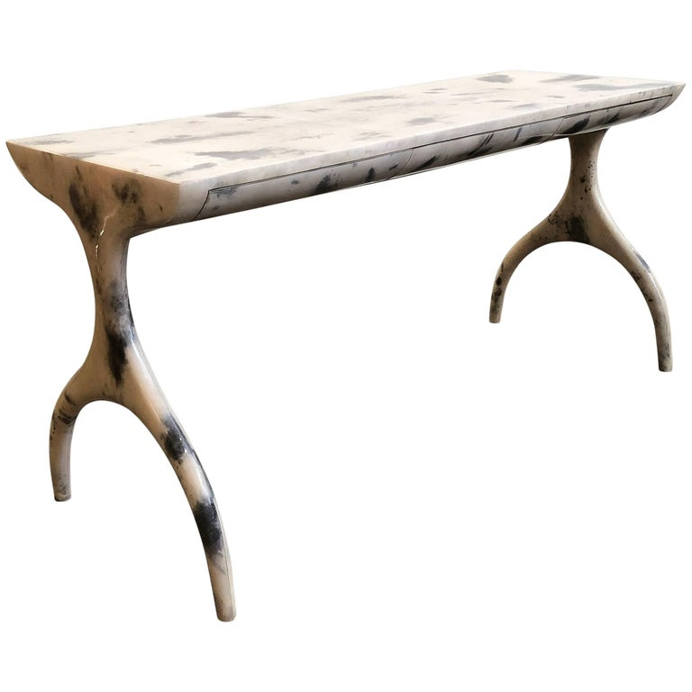 Console Table or Desk with Drawers For Sale