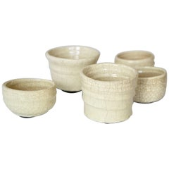 Set of Five Asymmetric Ceramic Bowls