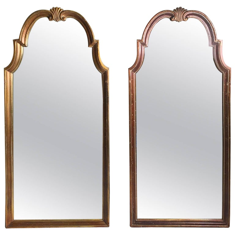 Vintage Pair of Gold Hollywood Regency Mirrors Attributed to La Barge