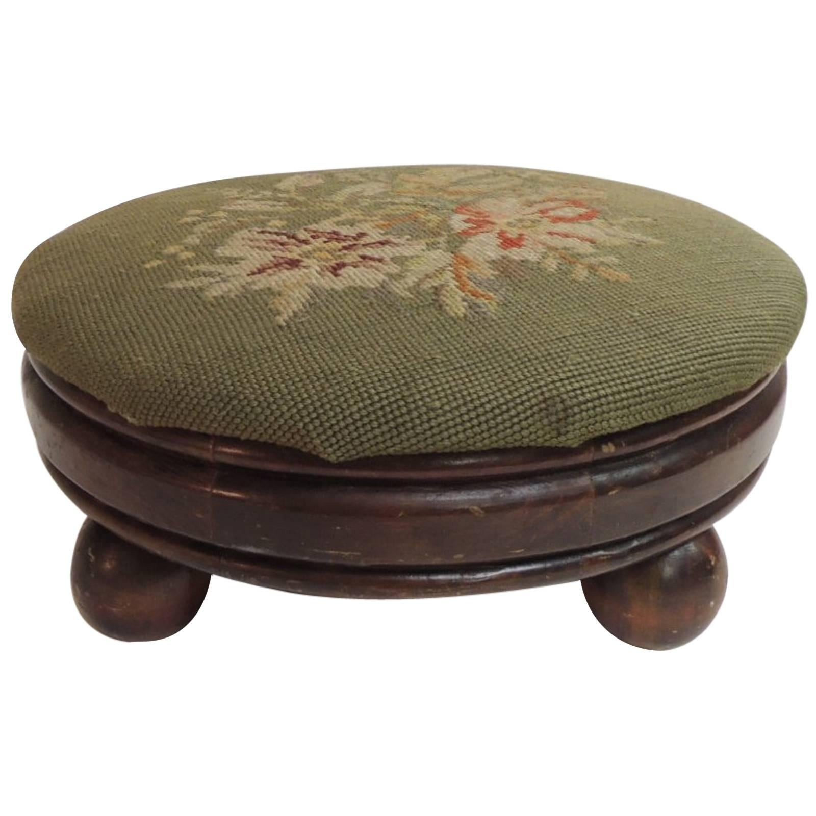 Victorian Upholstered Foot Stool On Bun Feet High Quality And Inexpensive Furniture