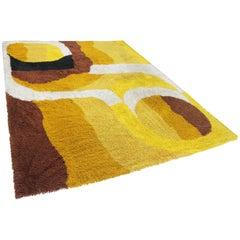 Big Midcentury Scandinavian Ege Rya Style Carpet