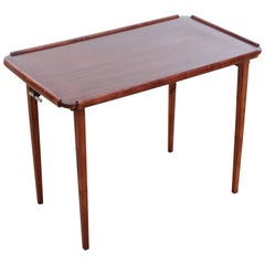 Mid-Century Modern Scandinavian Folding Table in Mahogany