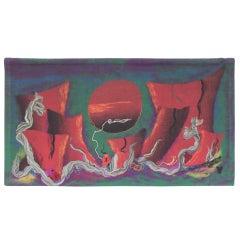 Big Design Midcentury Tapestry, Czechoslovakia