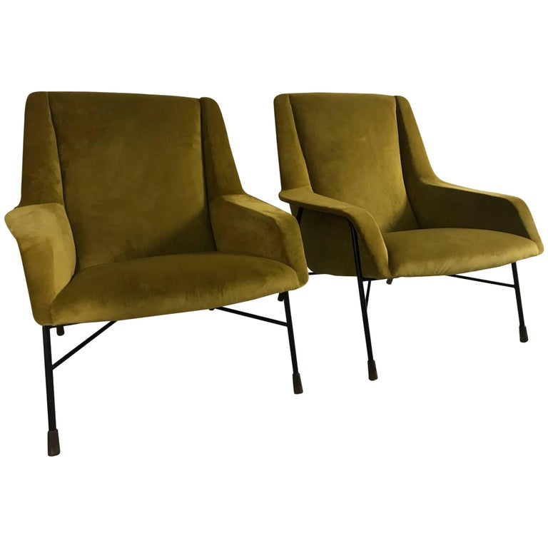 Pair of Italian Armchairs, 1960s