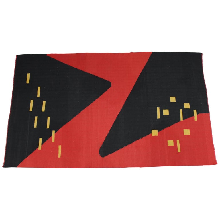 Modernist Geometric Kilim Carpet