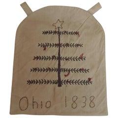 Primitive Small Americana Embroidered Sampler