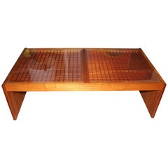 Artisan Craft Made Lattice Top Coffee Table
