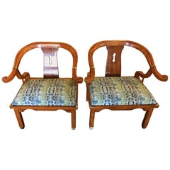 Pair of Chairs in Style of James Mont