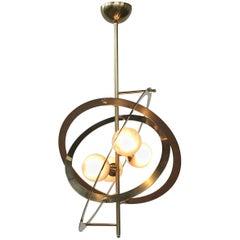 Galileo Gray Globes Murano Chandelier