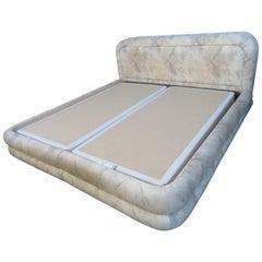 Nice Vintage Modern Steve Chase Style Upholstered King-Size Bed