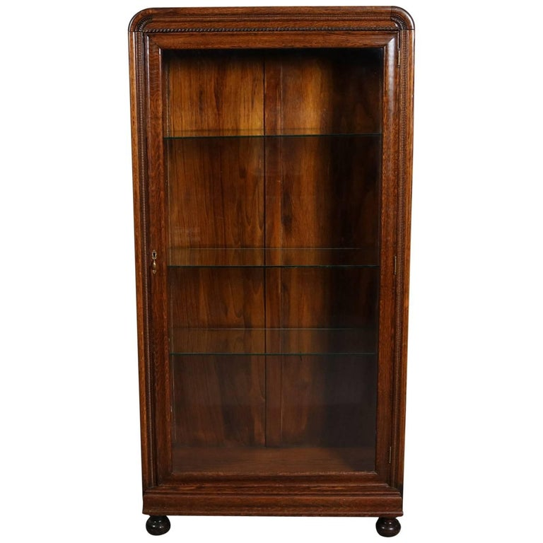 Single Glass Door Oak Display Cabinet Glass Designs