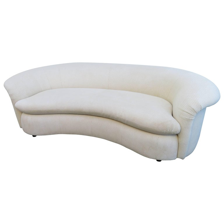 Lovely Vladimir Kagan Style Curved Kidney Shaped Sofa Preview, Midcentury