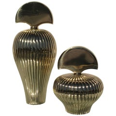 Two Brass Decorative Perfume Bottles