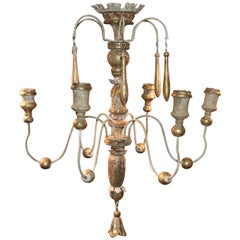 Italian Wooden 18th Century Church Fragment Chandelier