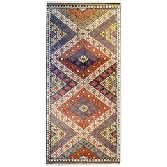 Mid-20th Century Saveh Kilim Runner