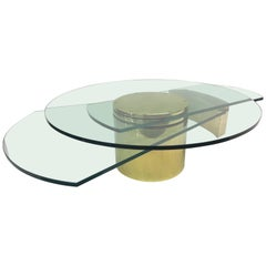 Dakota Jackson Self-Winding Coffee Table in Brass