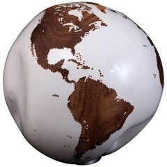 Classic White HB Globes Teak Root with Hammered Skin Effect, 40cm, Saturday Sale