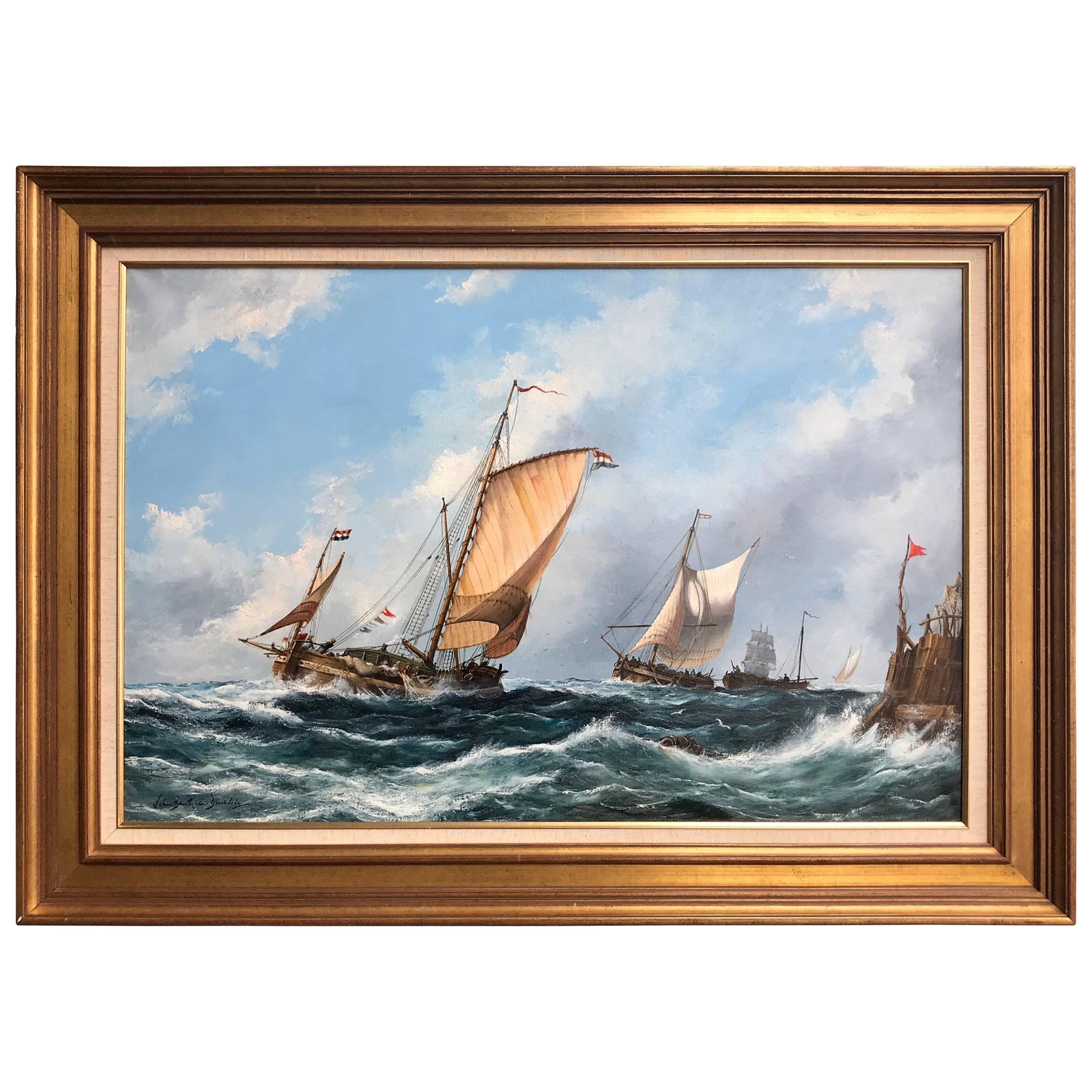 """""""Strong Seas"""" Painting by John Bentham-Dinsdale"""
