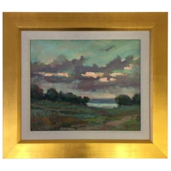 Original Oil on Board Landscape Painting by Listed Artis Paul Casebeer