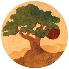 """""""Tree of Life """" 1970s Circular Wall Hanging"""