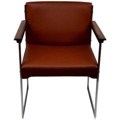 Midcentury Armchair by Illum Wikkelsø, Aniline Leather, P. Schultz & Co