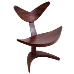 Whale Chair Made of Rosewood with Rusty Metal Effect, Saturday Sale