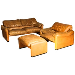 """Maralunga"" Set by Vico Magistretti for Cassina"