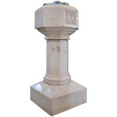 Carrara Marble Baptismal Font