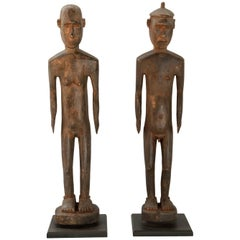 Tribal Ancestor Ana Deo Statues Lio-Ende, Central Flores. Mid-Late 20th Century