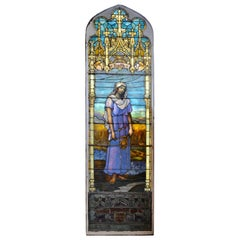 Stained Art Glass Window Depicting Ruth