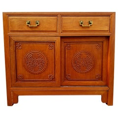 Asian Carved Hardwood Server by George Zee
