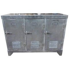 Metal Locker Sideboard
