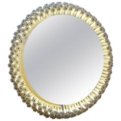 Metal and Glass Mirror by Emil Stejnar and Manufactured by Rupert Nikoll