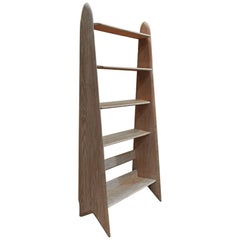 Solid Oak Bookcase  by Pierre Cruège, France, 1950