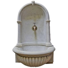 Beautiful Antique Carved Fountain 19th Century