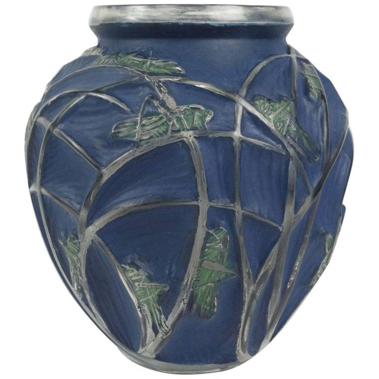 Ren Lalique Vase Sauterelles At 1stdibs