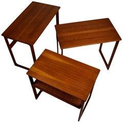Midcentury Nesting Tables by Johannes Andersen & Illum Wikkelsø Model 219, Teak