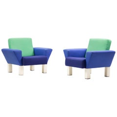 Pair of 'Westside' Armchairs by Ettore Sottsass for Knoll