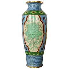 19th Century Cloisonné Enamel Vase, France
