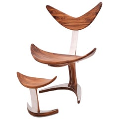 Whale Chair from Suar Wood with Mirror Polished Stainless Steel, Saturday Sale