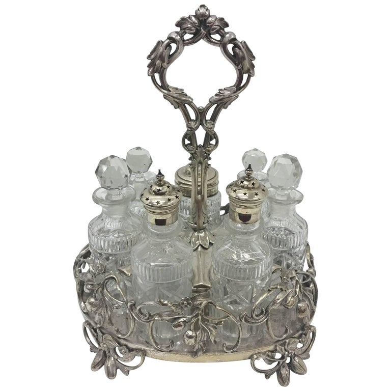 Victorian Table Cruet Set Made in 1870