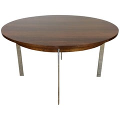 MidCentury Rosewood and Chrome Dining Table by Merrow Associates