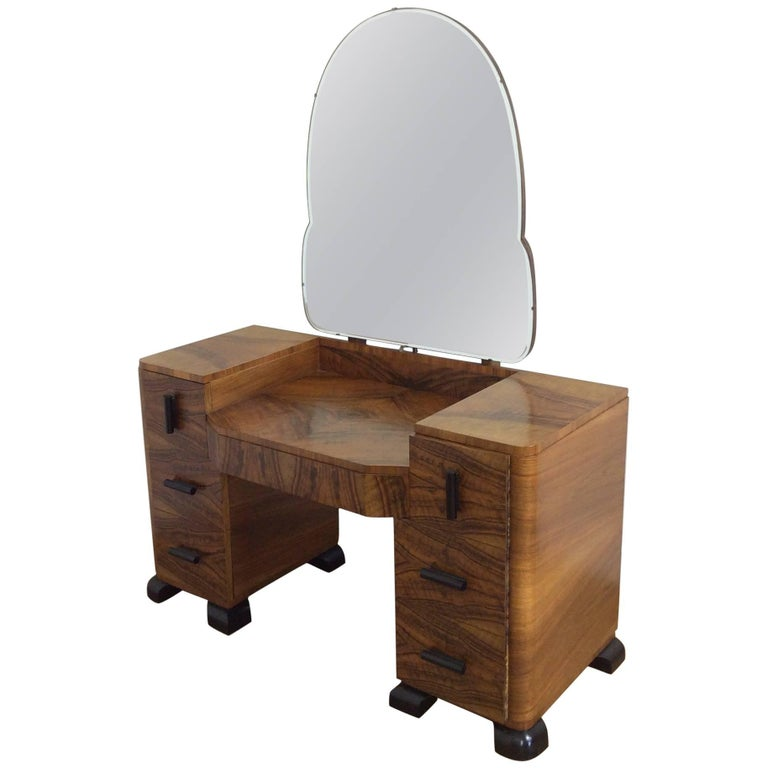 art deco dressing table from poland for sale at 1stdibs. Black Bedroom Furniture Sets. Home Design Ideas
