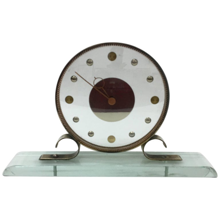 Mid Century Modern Table Clock Iatos Per Venini For Sale At 1stdibs