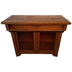 Rare Design Dutch Oak Cabinet, circa 1920