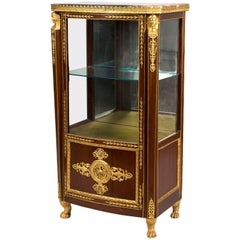 Antique Russian Marble Topped Vitrine in the Empire Style