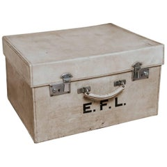 Early 20th Century Vellum Suitcase
