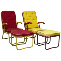 French 1950s Sun Loungers