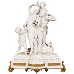 Antique Sevres Style Porcelain Group after Clodion